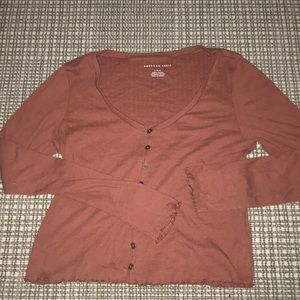 American Eagle long sleeved crop top size large